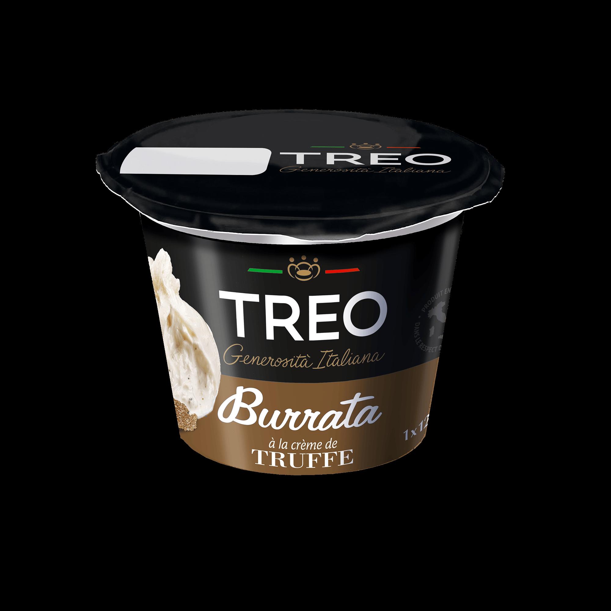 burrata à la crème de truffe